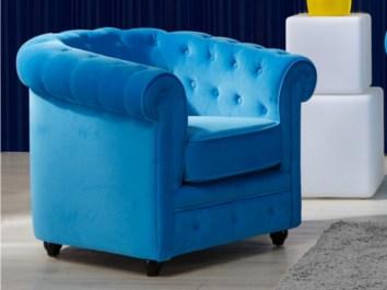 Un fauteuil bleu