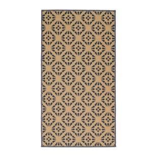Un tapis à motifs géométriques