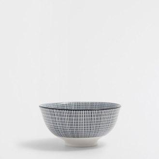 Porcelaine rayée bicolore