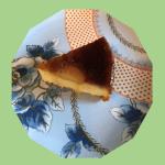 キャラメルと洋梨のチーズケーキ