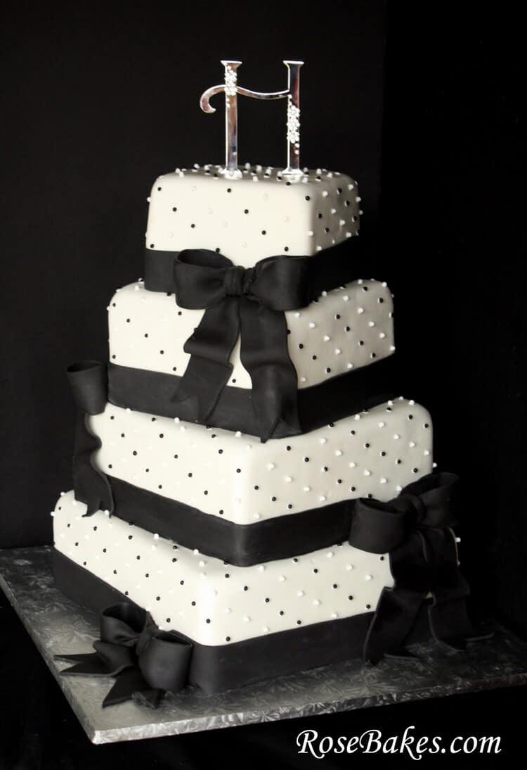 Black Amp White Wedding Cake