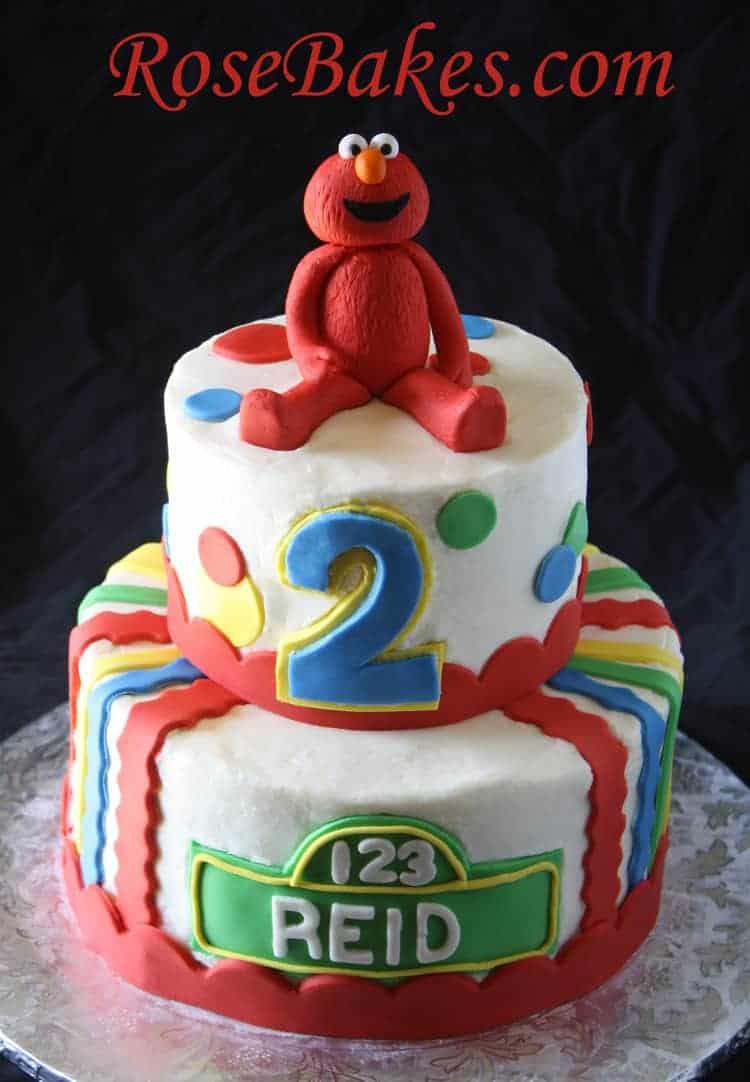 1st Birthday Elmo Bursting Out Of A Cake Smash Cake