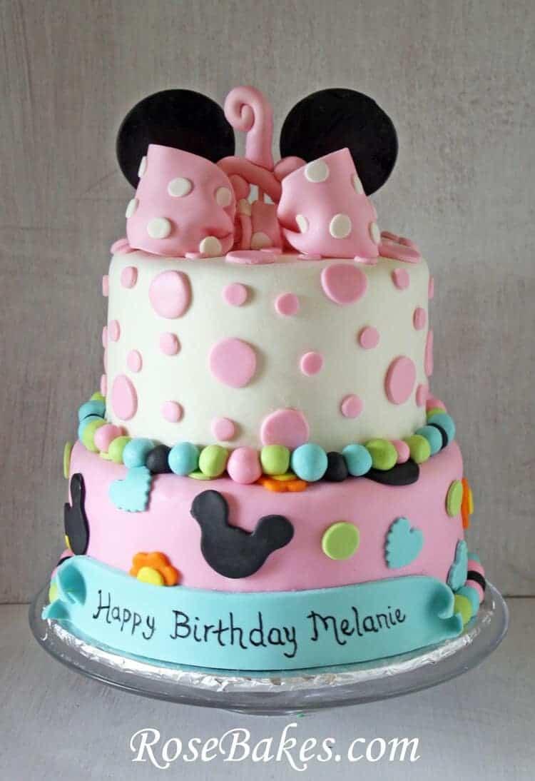 Minnie Mouse 1st Birthday Cake Smash Cake