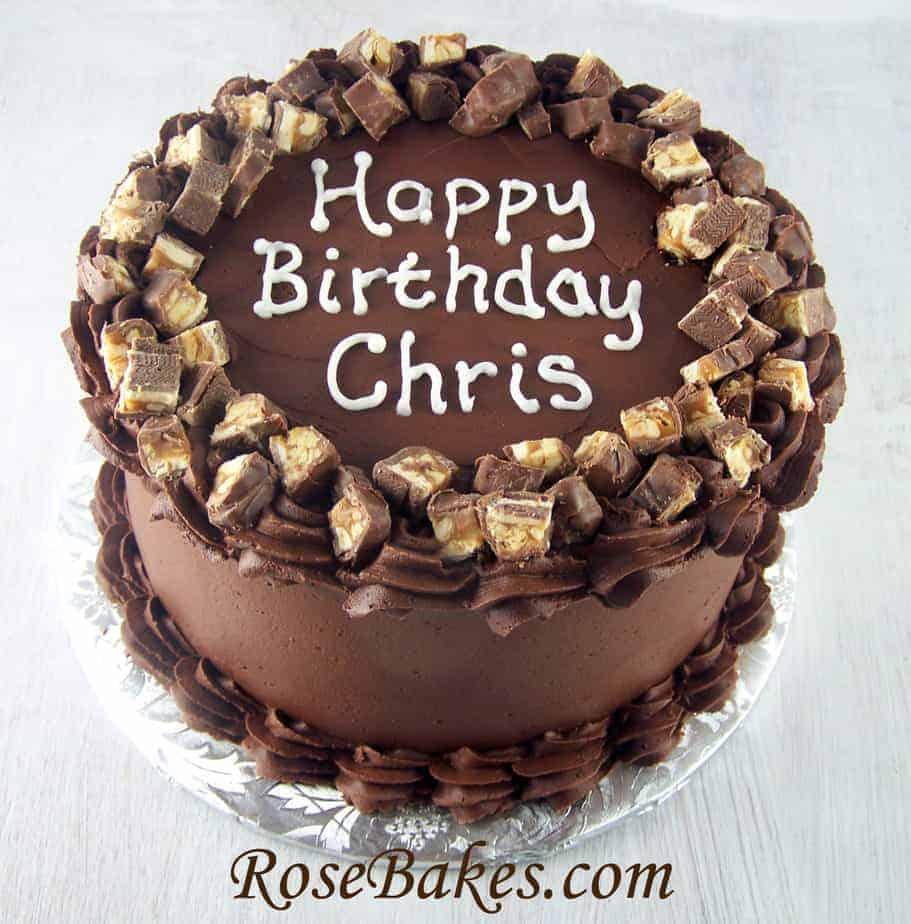 Decorate Cake With Chocolate Bars