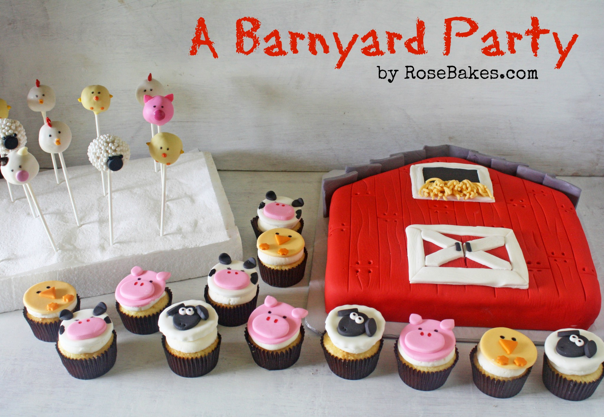 Farm Animals Cupcake Toppers Tutorials