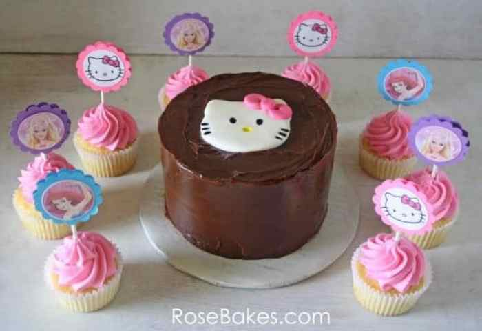 Hello Kitty Cake Cupcakes With Hello Kitty Barbie The Little