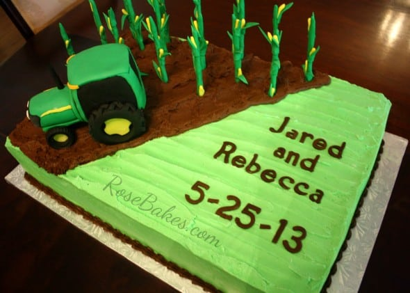 Corn Farming Tractor Cake From Rosebakes Com