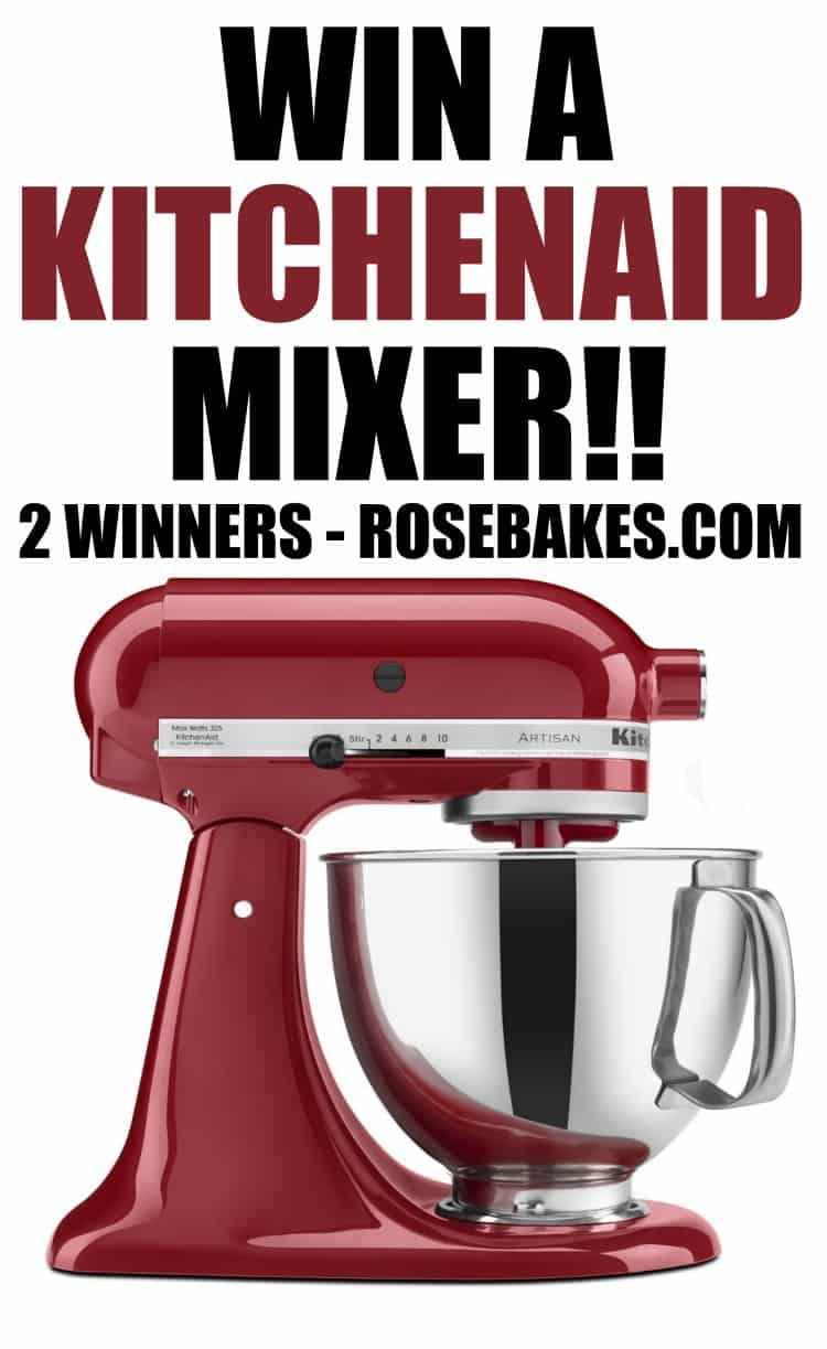 ended win a kitchenaid artisan stand mixer 2 winners - Kitchenaid Mixer Artisan