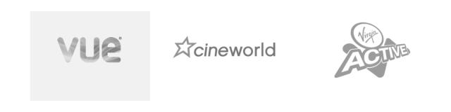 Vue Cinemas, Cineworld Cinemas, Virgin Active
