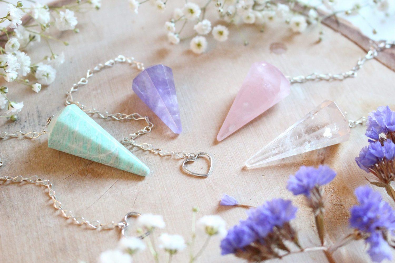Pendule cristal divinatoire