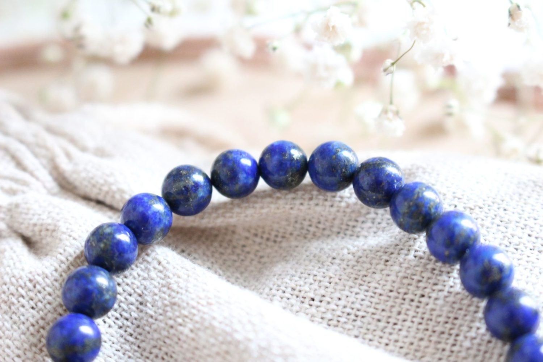 Bracelet en Lapis-Lazuli bleu