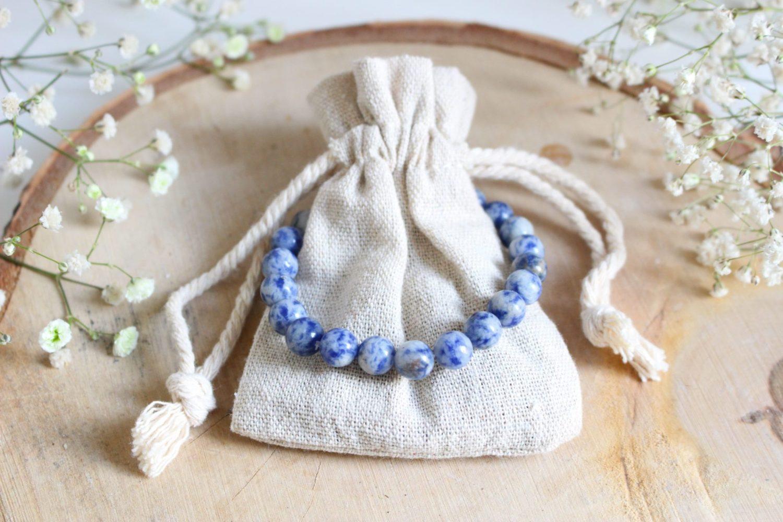 Bracelet en pierres naturelles de Sodalite