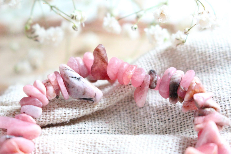 Bijoux Rhodochrosite pierre naturelle rose