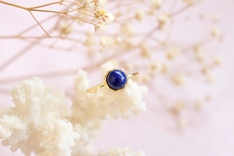 """Bague """"Sérénité"""" en Lapis-Lazuli"""