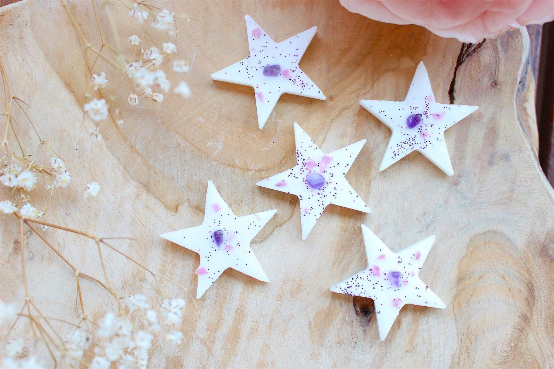 5 mini-fondants holistique Fleurs de coton étoilés