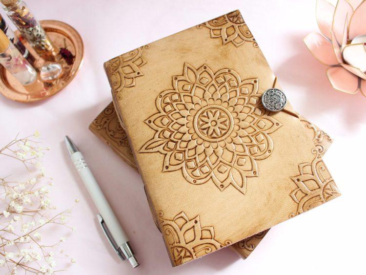 Carnet Mandala en papier recyclé