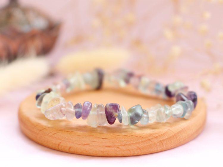 Bracelet Baroque en Fluorite multiple