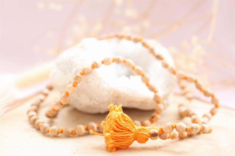 Japa Mala en perles de Tulsi (Basilic sacré)