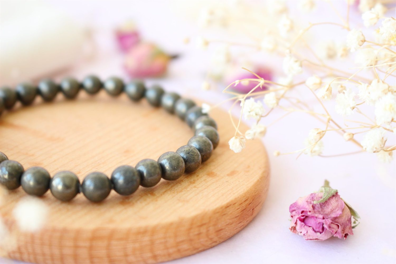 Bracelet en Pyrite lithothérapie