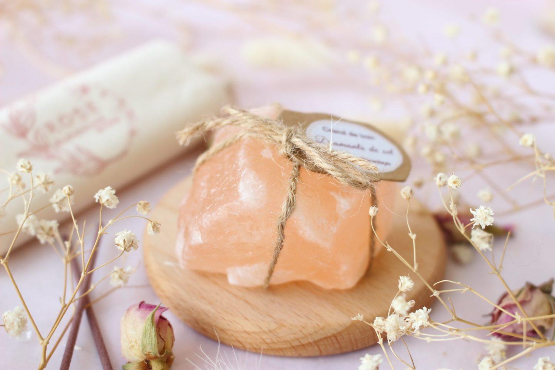 Cristal de bain [ Diamant de sel rose de l'Himalaya ]