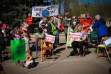 Children gathered for climate in Calgary. April 26-2015 yyc