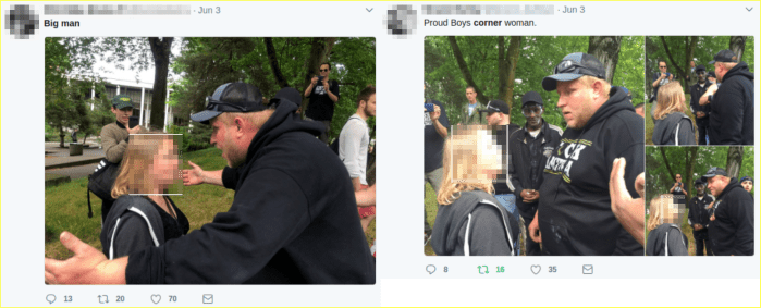 twitter users notice Travis Nugent bullying a woman