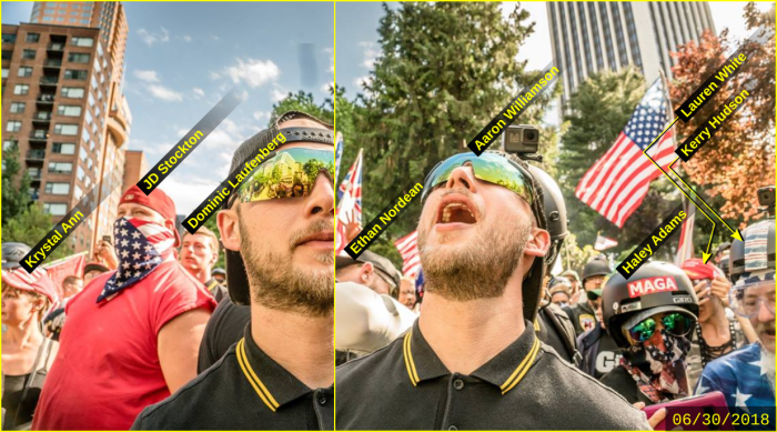 Aaron Williamson at Joey Gibson's violent June 30 rally