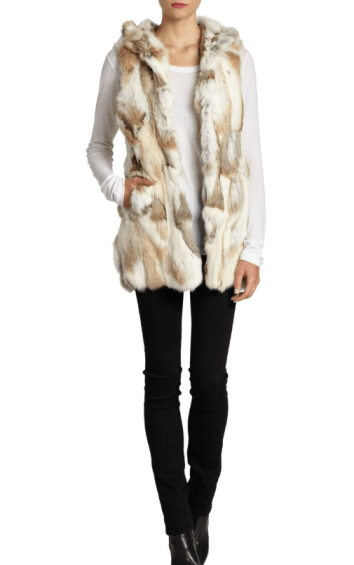 fur, faux, fur real, sale fur, saks off the fifth, fur vest