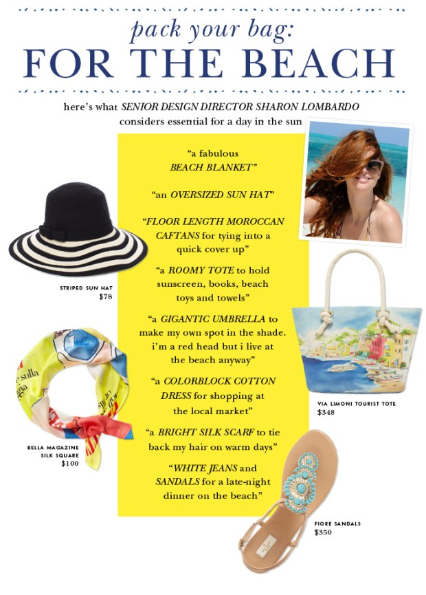 Kate Spade's Guide to Packing a Beach Bag