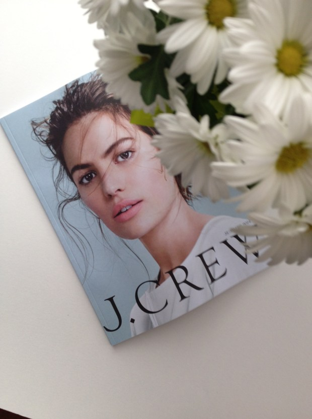 jcrew catalogue, fresh flowers, jcrew