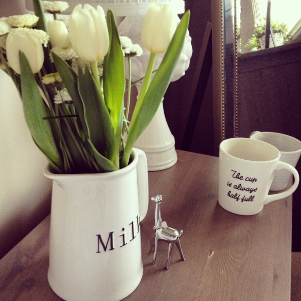 milk bottle, fresh flowers, home decor, chapters indigo, ikea, homsense, mugs