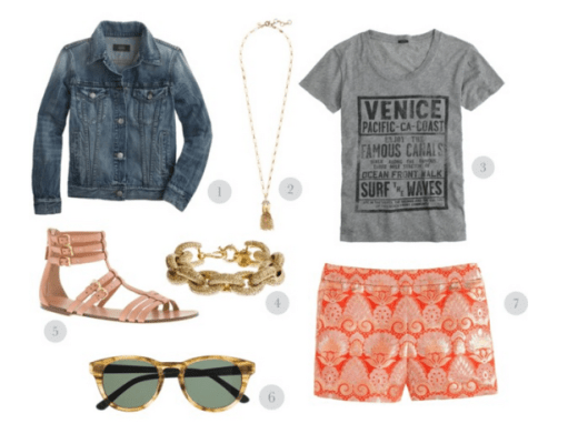 Jcrew Summer, Summer Fashion, Summer Style, JCrew, Jcrew jean jacket, Jcrew graphic tee
