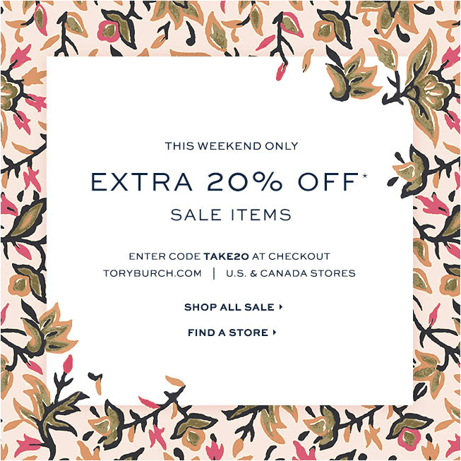 9737e02c4e34 Extra 20% Off Tory Burch Sale