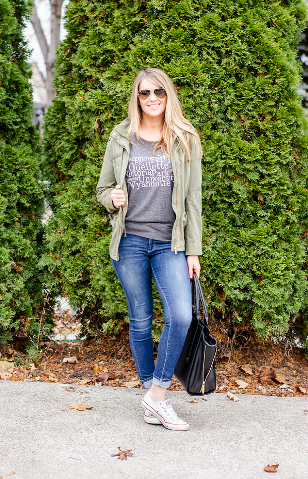 wordans-custom-tee-flowy-grey-weekend-style-graphic-tshirt-army-green-jacket-rose-city-style-guide-fashion-lifestyle-blog