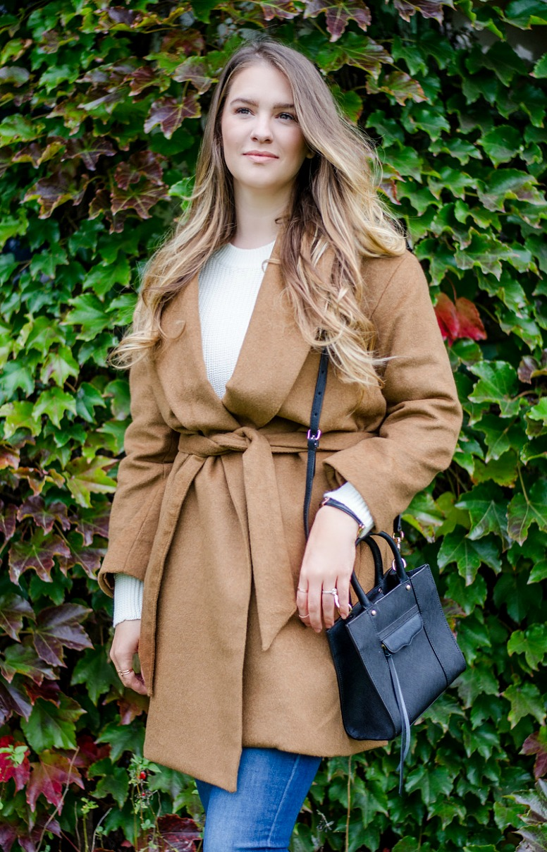 fall-outfit-cozy-wrap-coat-camel-wool-red-aldo-booties-rayban-fashion-blog-rosecitystyeguide