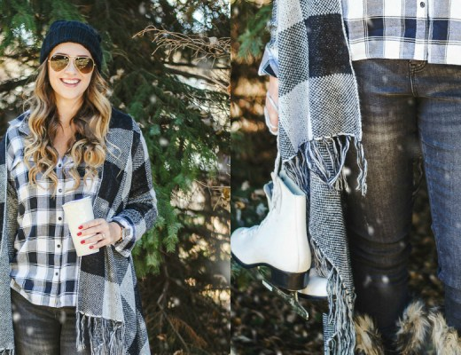 HOLIDAY-STYLE-WEEKEND-WINDSOR-CROSSINGS-ROSECITYSTYLEGUIDE-SORREL-PLAID-ICE-SKATES-HOT-COCO