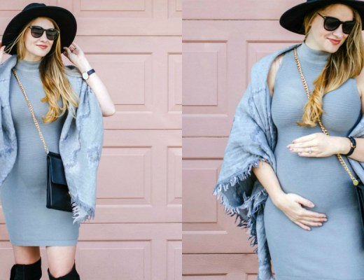 maternity-style-grey-outfit-artizia-fashion-blogger-canadian-lifestyle-rose-city-style-guide-felt-hat-blanket-scarf-5