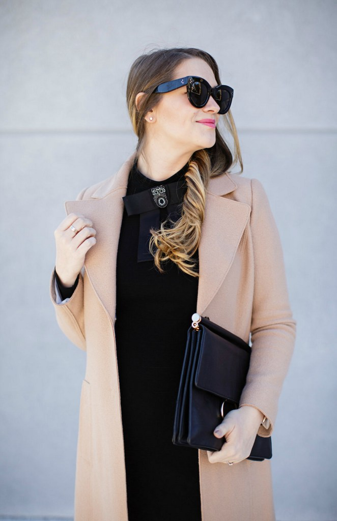 marc-cain-bow-dress-camel-coat-celine-caty-sunglasses-maternity-style-pregnancy-outfit-rosecitystyleguide-1