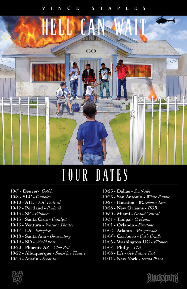 Vince Staples Hell Can Wait Tour