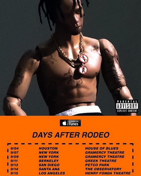 Travi$ Scott Days After Rodeo Tour Dates Announced