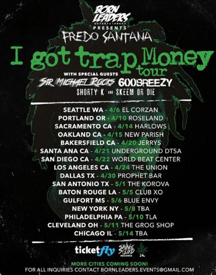 "Fredo Santana and Sir Michael Rocks announce ""I Got Trap Money"" Tour"