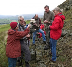 Fossiking at East Mines, Rosedale