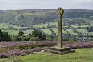The Millennium Cross, looking towards Chimney Bank