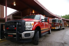 Our Service Truck and one of the Engines