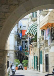 a narrow street in Bari