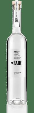 a bottle of FAIR vodka made from quinoa