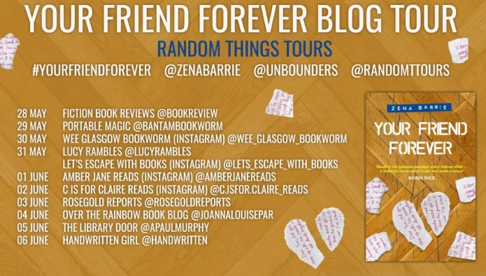 blog tour poster for your friend forever