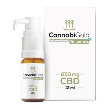 CannabiGold Terpene 250 mg CBD Tropfen 12 ml