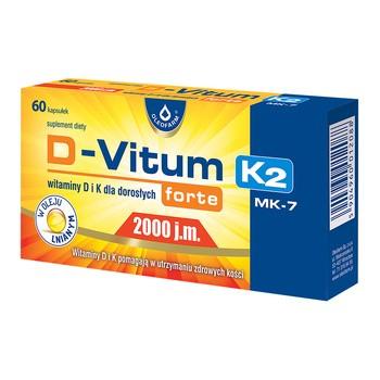 D Vitum Forte 2000 IE K2 MK 7 Vitamin D und K fuer Erwachsene forte Kapseln 60 Stk.