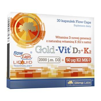 Olimp Gold Vit D3 K2 2000 IE 50 µg Kapseln 30 Stueck